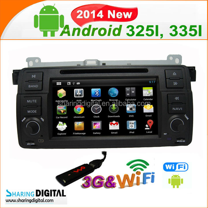 Android 4.2.2OS Car DVD GPS Radio Stereo with RDS system for car radio gps android din E46