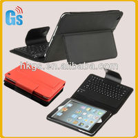 Mini bluetooth wireless keyboard leather case for ipad