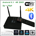 s905 2gb Antenna s905 wifi bluetooth 2gb android tv box quad core