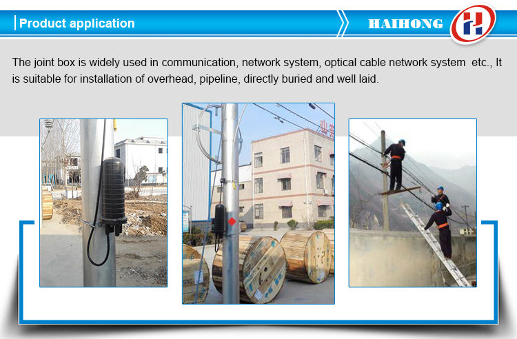 Waterproof underground fiber optic splice enclosure optical fiber joint box