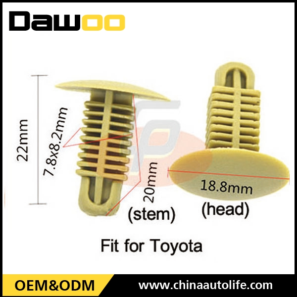 Wholesale Plastic Rivets Retainer Clips fit for Toyota
