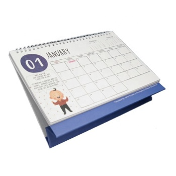 2019  Personalised computer printable desk pad  calendar wholesale by your own design