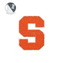 sew-on letter S chenille embroidery patches