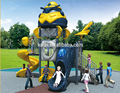 Residential Outdoor Robot Series Kids Game Plastic Slide Playground Equipment