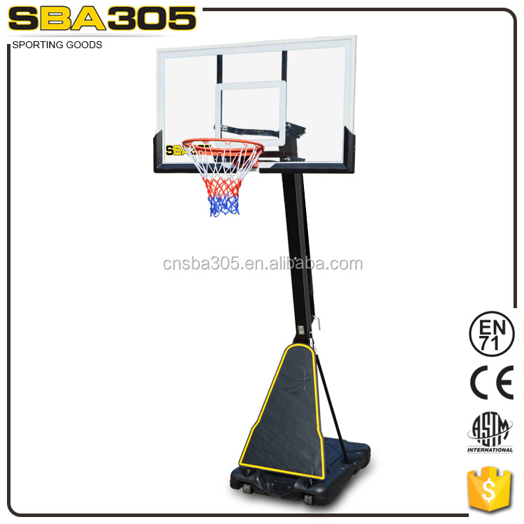 retractable height adjustable basketball set of SBA305 027