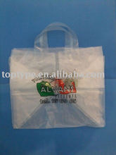 plastic soft loop square bottom shopping bag