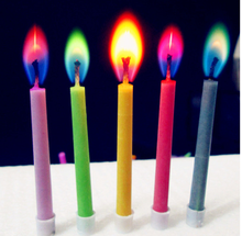 Sell cakes product color flame birthday candles and festival party color flame candles