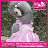 Pink bowknot design pet clothes small dog clothes dress dog wedding clothes