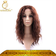 indian women hair wig wet and wavy/water wave indian remy full lace wig new fashion