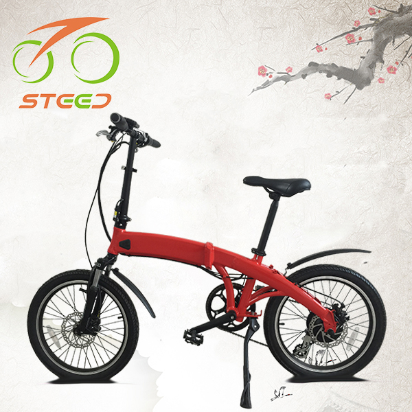 "Chinese city e bicycle folding electric bike 20"" Li-ion battery CE EN15194"