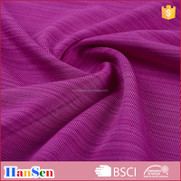 Comfortable bunchy yarn weft knitted polyester spandex fabric
