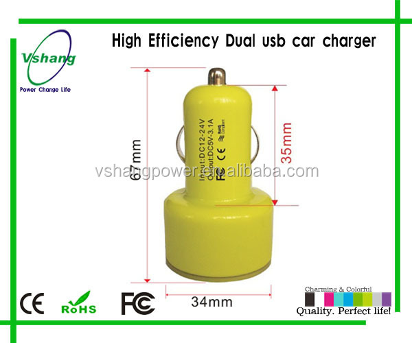 Classic, hot, high quality car charger with LED light