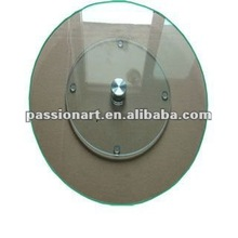 Tempered glass lazy susan turntable