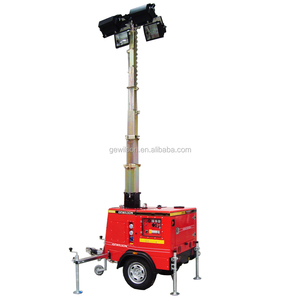 Hydraulic Lifting Mast Vehicle mounted Light Tower for Mine, Construction,Road Lighting etc