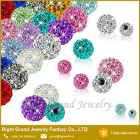 3mm 4mm 5mm Body Jewelry Parts For Labret Belly Ring Crystal Ball