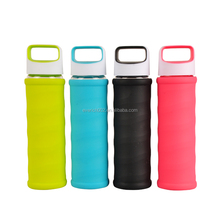 Everich 2017 High Borosilicate Glass Water Bottle with Colorful silicone cover