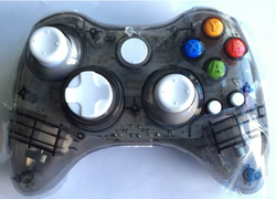 For Xbox 360 wireless game controller transparent with LED