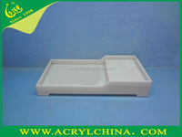 2015 The Milk white Acrylic Tray/Plexiglass Tray For Hotel Supplies