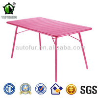 Colorful Rectangular Metal Outdoor Folding Tables