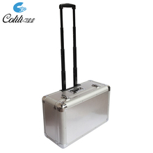 Custom rolling portable travel metal suitcase aluminum luggage case