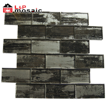 Ancient style stained glass mosaic subway tile for backsplash,art wall decoration