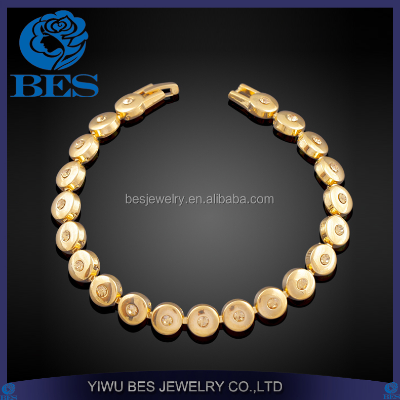 Gold Plated Medical Fashion Jewelry Manufacturer Brass Magnetic Bracelet