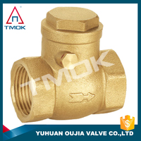 G 1/2 Brass One Way Swing Check Valve Brass Horizontal Check Valves China Leading Swing Check Valve