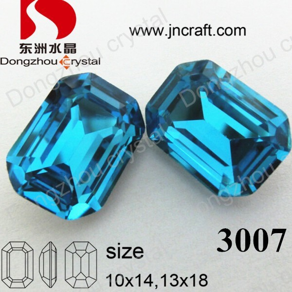 Loose Diamonds Machine Cut Crystal Glass Stones for Charm Pendant