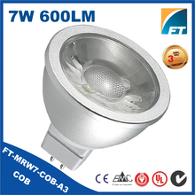 Aluminum Lighting MR16 7W led spot light,cob led spot,sopt led lighting gu5.3