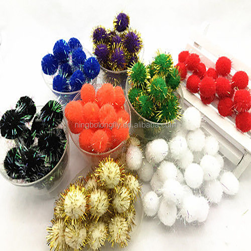 15mm pom pom ball Pompon yard Polyester Garland crochet cotton decor DIY
