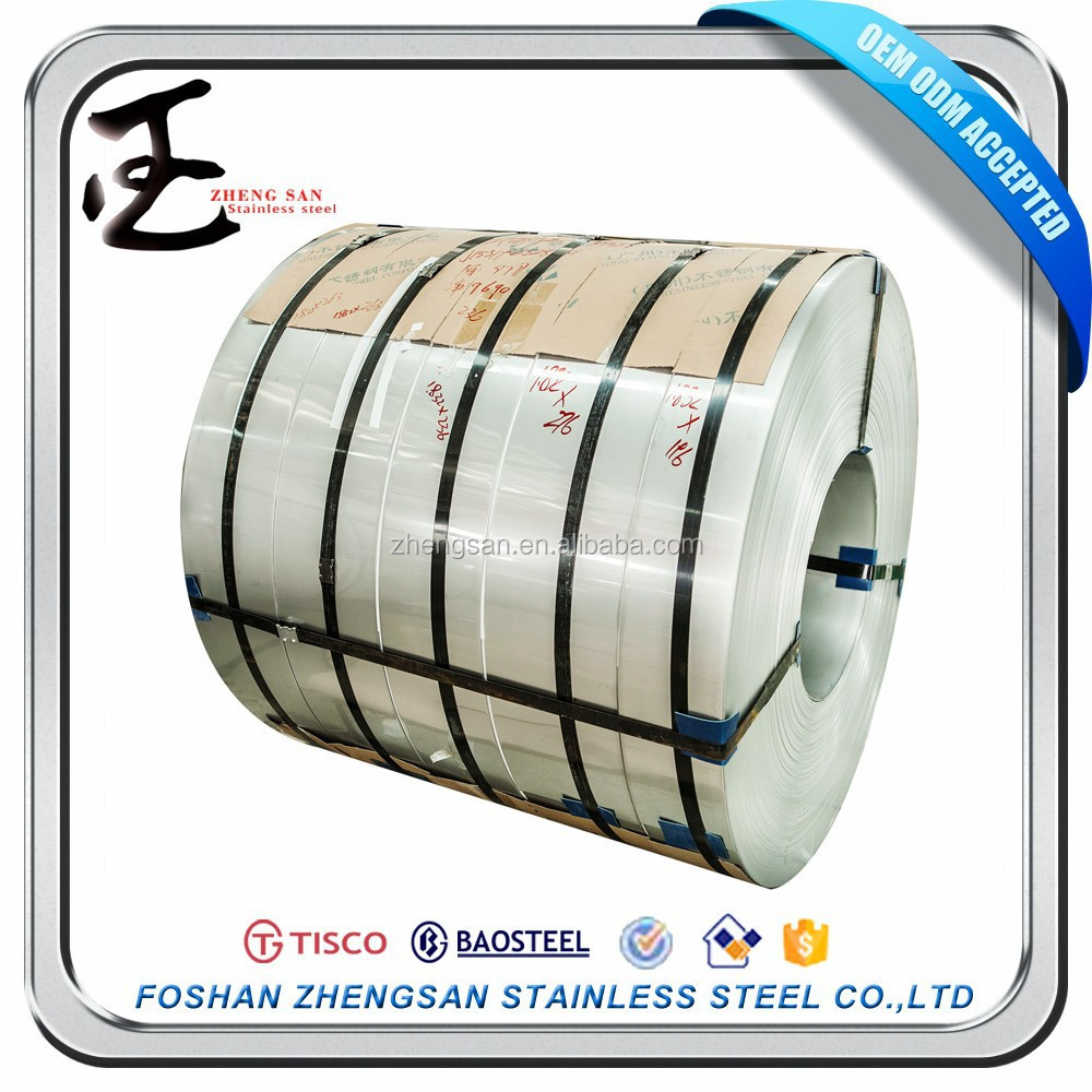 Foshan supplier ISO cold rolled ss strips 201 304 polished finish stainless steel prices per kg