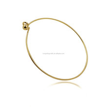 New Wholesale Gold Plated Stainless Steel Ajustable Kada Metal Women Bangle Bracelet Blank