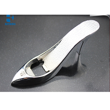 Metal High Heel Shoe Bottle Opener With Clear Sparkle On Top