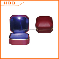 luxury led light wedding ring box