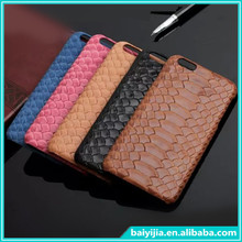Snake Skin Pattern Mobile Phone Leather case for iphone 6,Real Leather Mobile Phone Case