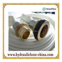 high quality low price Rubber lined canvas fire hose pipe for sall