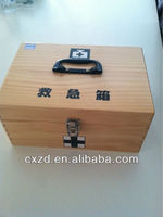 wooden first aid kit- madicine chest