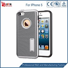 Popular item 2 in 1 carbon fiber cell phone case for iphone 5s