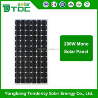 Popular size paneles solares 200w for PV system