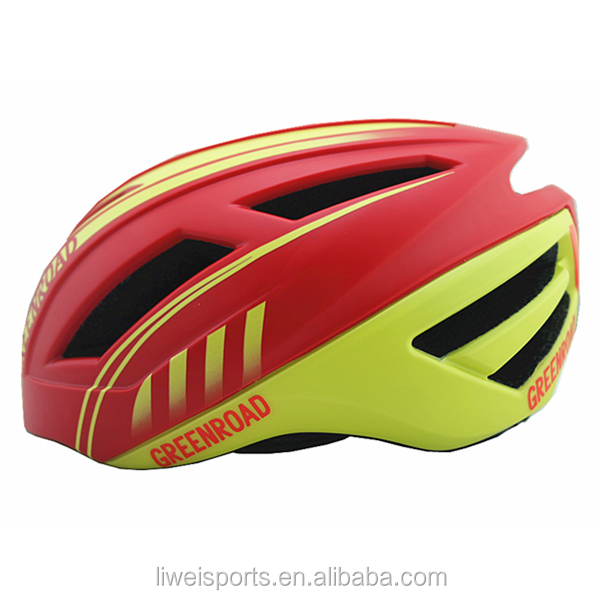 2017 Hot sale in-mold sport riding adult road bicycle bike helmet