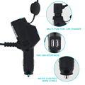 Mobile Fast Charge Multi-function Display Micro USB Vehicle Car Charger