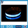Adjustable LED Light Flat Collar for Pet Dog Blue S-Size