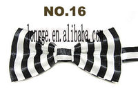 wholesale dog bow tie with Brand-New Boys Bow Tie black and white stripe Adjustable Baby To Preteen
