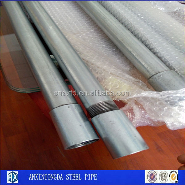 Mini Pipe Round Galvanized Steel Pipe For Curtain Material