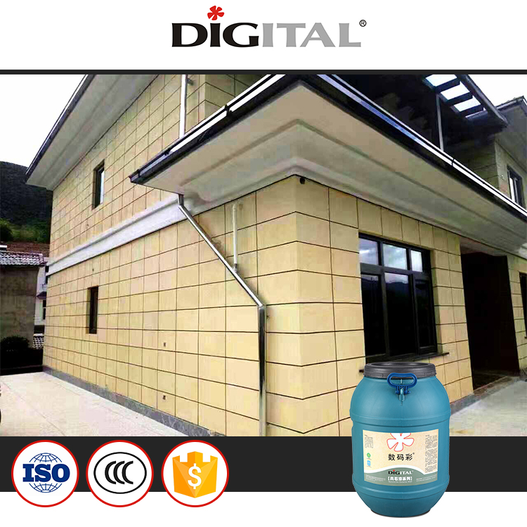 Digital Color natural granite stone paint for exterior wall