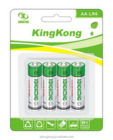 1.5V LR6 AA AM-3 Alkaline dry Non rechargeable battery with Aluminum jacket