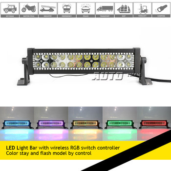 RGB LED LIGHT BAR WITH RGB COLOR STAY AND FLASH offraod LED LIGHTBAR
