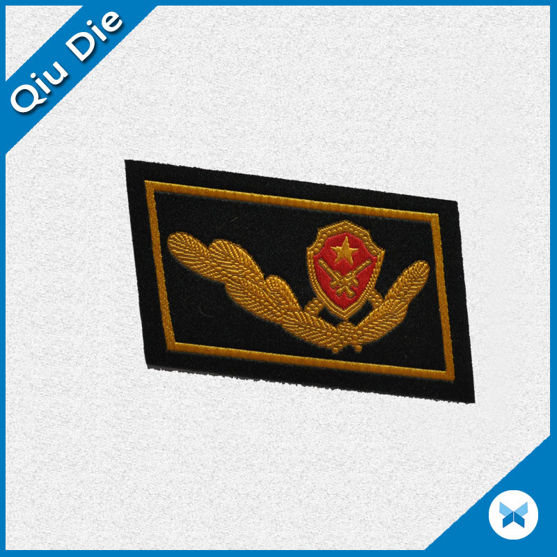 Sew On Embroidered/Woven Badge For Uniform/Cap/Shoes