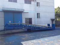 equipment parts hydraulic mobile container dock ramp with CE