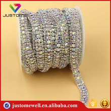 High quality multi-row strass rhinestone cup chain for wedding dresses